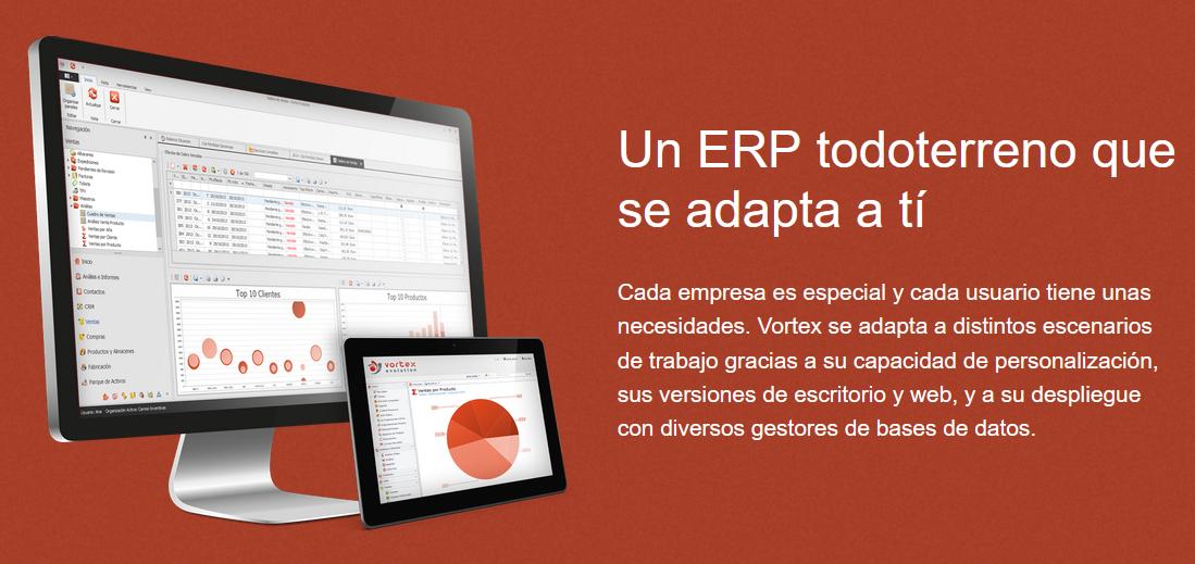 Software de gestión ERP personalizable